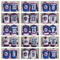 hokey formaları bobby gövde toptan satış-En iyi Kalite Vintage Winnipeg Jets Forması 10 Dale Hawerchuk Formaları 8 13 Teemu Selanne 9 Bobby Hull Erkek 16 Laurie Boschman Hokeyi Forması
