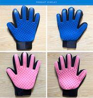 sporthaustierentwürfe großhandel-Pet Grooming Glove Sanfter Deshedding-Pinselhandschuh Pet Mitt Bashing-Massage Verbessertes Fünf-Finger-Design für Single