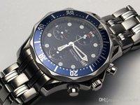 relógios mecânicos dos homens do binger venda por atacado-Relógio de homens clássicos de alta qualidade Chronometre movimento automático relógios de luxo mecânicos mostrador azul banda de aço inoxidável relógio de pulso