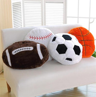Wholesale Simulation spherical Basketball football baseball pillow sofa cushion nap pillow to send boyfriend birthday fans gifts T8I085