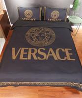 schlafzimmer quilts deckt großhandel-Marken Frauen Brief Drucken Quilt Designer Männer Haushalt Schlafzimmer 100% Weicher Baumwolle Hause Bettwäsche Bettbezug 200 * 230 CM Bettwäsche Kissenbezug