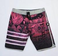 пляжные брюки оптовых-Мужские модные пляжные брюки повседневные свободные цветочные принты быстросохнущие шорты для серфинга на море 2019 Новые спортивные штаны Hurley