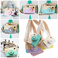 Wholesale antique wood decor resale online - Cute Wooden Camera Toys Kids Toys Home Decor Furnishing Articles Hanging Photography Prop Decoration Christmas Gift For Children