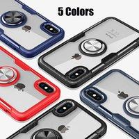 iphone tampon halka kılıfı toptan satış-Toptan Yeni Geldi Yüksek Kalite Moda Parmak Yüzük tutucu Telefon Kılıfı Için iPhone Için X XS Max XR Durumda Tampon Kapak iphone 6 S 6 7 8 Artı