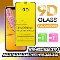 tela de cobertura samsung x venda por atacado-Protetor de Tela 9D Cobertura completa Vidro temperado completa Glue 9H para iPhone 11 Pro Max XS XR X 8 7 Samsung S10 E A10 A50 A70 A90 M20 Huawei P30