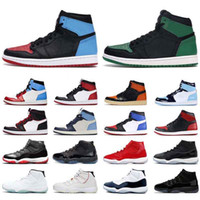 Wholesale jam black resale online - Men basketball shoes s high OG UNC to Chicago Pine Green Travis Scotts bred s concord space jam jumpman women sports sneaker