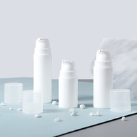 Wholesale cosmetic pressure pump bottle for sale - Group buy 5ml ml ml White Plastic Empty Airless Pump Bottles Vacuum Pressure Lotion Bottle Cosmetic Container