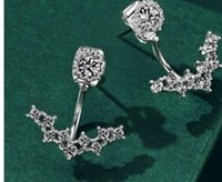 Wholesale knot earings for sale - Group buy wondrful high quality diamond crystal fashion style silver lady s earings TX fr