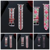 Wholesale red watchband resale online - For Apple Watch Band Luxury Leather Watchband iwatch for mm mm mm mm Size Bands Leather Sports Bracelet Designer Wristband A09