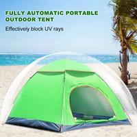 tentes tubulaires achat en gros de-Nouveau Style Tente Extérieure 3-4 Personnes Double Porte Entièrement Automatique Durable Imperméable Soleil Protection Camping Tente Gaze Moustiquaire