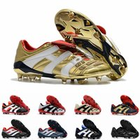 cr7 listones blancos jóvenes al por mayor-Clásicos Predator Acelerador Electricidad Precisión FG X Beckham DB Zidane ZZ 1998 98 Hombres zapatos de fútbol tacos botas de fútbol taquetas Tamaño 45