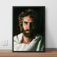 cópias da arte jesus venda por atacado-O céu é para REAL Jesus HD Cartaz Da Lona de Arte de Parede E Pintura Da Lona de Impressão Imagem Decorativa Para O Escritório Sala de estar Em Casa Decoracion