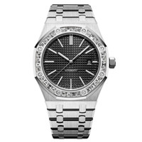 Wholesale glass dresses for sale - Group buy mens diamond watches automatic mechanical Movement watch full stainless steel swimming watch Super luminous Sapphire glass