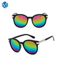 lunette soleil güneş gözlüğü toptan satış-MISM Yeni Boy Yuvarlak Gözlük Ayna Güneş Kadınlar Fotokromik Güneş Gözlüğü Punk Lunette De Soleil Anti-Yansıtıcı Gözlük