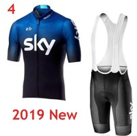 Wholesale red black bike jersey for sale - Team SKY Cycling Jersey Bike Clothing Men Quick Dry MTB Bicycle Short Sleeve Set Shorts D Pad uniformes ciclismo hombre