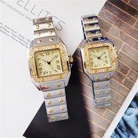 fall römisch groihandel-40mm / 33mm Paar Männer Frauen CT65 Luxusuhr voller Diamant-Uhr-Kasten-Silber / Gold / Rose Gold Diamant-Bügel-römische Num-Quarz-Uhr