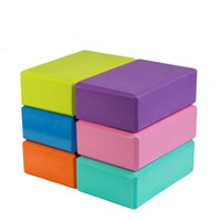Wholesale yoga eva brick resale online - 1Pc cm EVA Yoga Block Foam Block Brick Exercise Fitness Tool Workout Stretching Aid Body Shaping Health Training Helper
