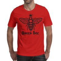 beyonce baskı toptan satış-Beyonce kraliçe arı vektör Taç Erkekler T Gömlek kırmızı Gömlek Özel T Shirt Tasarımcı Baskı Mvp Custom Made Gömlek Siyah