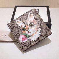 Wholesale tiger clutch for sale - Group buy Top Quality Luxury Celebrity Design Letter Embossing Wallet Bee Tiger Cat Head Card Pack Cowhide Leather Man Purse Clutch