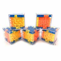divertidos puzzles 3d al por mayor-3D Cube Puzzle Laberinto Juguete de la mano Juego de caja Caja de juegos Cerebro divertido Desafío Fidget Toys Balance Juguetes educativos para niños