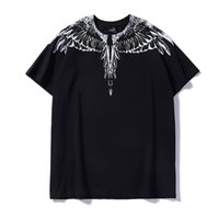 Wholesale shirt wings for sale – custom Marcelo Burlon T Shirt Milan Feather Wings Designer T Shirt Men Women Couple Fashion Show T Shirts Short Sleeve Size M XXL