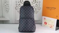 mens omuz seyahat çantaları toptan satış-Gerçek deri Erkek göğüs çantası AV. ÇANTA ÇANTASI D.GRAP. N41719 seyahat çantası MENS çapraz vücut meme omuz çantası N41612 N41473 41473 N41712 AVENUE
