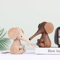 Wholesale elephant puppet for sale - Group buy Nordic Creative wood Long nose Handmade Home Decorative ornaments Carved puppet Children s room decoration Elephant figurine