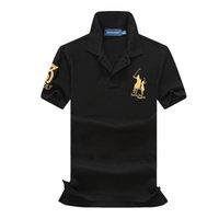 gelbe poloshirts männer großhandel-Polo Herren Designer T Shirt Schwarz Gelb Grün Designer Shirt Ralph Marke Lauren Herren Damen T Shirt Classic Fashion T Kurzarm S-XXL