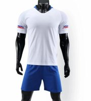 Wholesale soccer wear kits resale online - fan shop Men s Mesh Performance Customized football Uniforms kits Sports Soccer Jer Shorts Soccer Wear custom clothing many different colors