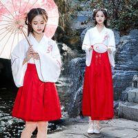 ropa de las mujeres chinas tradicionales al por mayor-Fairy Girls Chinese Clothing Water Sleeve Traditional Retro Hanfu Women Tang Suit Dance Performance Disfraces Trajes casuales