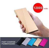 beleuchtung extern großhandel-20000Mah Ultra Thin Slim Schnellladung Power Bank Tragbare Externe Batterie Polymer Buch für iPhone Android Handy Tablet PC LED-LICHT