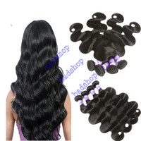 Wholesale coloured human hair resale online - 9A Malaysian Virgin Body Wave Human Hair Weave Virgin Malaysian Hair Dyeable Natural Colour Double Weft Wavy Hair Extensions