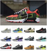 sapatos turquesa venda por atacado-2020 almofada de ar 90 reverso Duck Camo multi Mens Running Shoes 90 Cheap air90 Hiper turquesa Esportes Be True Triplo Preto Branco Sneakers