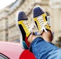 tênis baixo limitado venda por atacado-Homens casuais Júnior Sapatos Sem Limite Vermelho Inferior Sneaker Cravado Pik pik Orlato sneaker Verão Malha Sapatos Amantes de Design de Luxo Low Cut / Alta