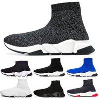 кроссовки с блестками оптовых-Дизайнер Носки Обувь Скорость Тренер Мужские Женщины Сапоги Тройной Черный Белый Красный Синий Кроссовки Носок Гонки Спортивная Роскошная Обувь 36-45