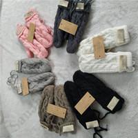linha de luvas venda por atacado-Austrália UG Luvas torção Mulheres com forro de lã torcida Knit Glove Mittens Marca Outdoor Ski esporte de inverno Luvas de lã Mistura Mittens C103108
