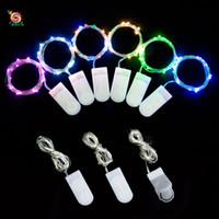 led strip iluminação bateria operado venda por atacado-Decoração de casa criativa LED luzes da corda Para a Festa 1 M 10 luzes Mini bateria operada luz da corda Tiras de LED para garrafa de vinho decorações de Natal