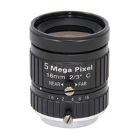 abertura da lente venda por atacado-HD 5MP CCTV Lens câmera de 16mm F1.6 Aperture imagem 2/3 lente do sensor, lente de 5MP