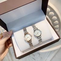 Wholesale 22mm round resale online - Top quality New fashion Women Watch mm small case Casual Design WristWatches Lady Fashion Luxury Quartz steel Watch Relojes De Marca Muje