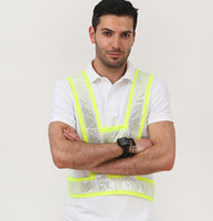 Wholesale man work clothing online - 2 Colors V Type Reflective Vest Unisex High Visivility Outdoor Safety Vest Men Running Cycling Sports Work Clothes Camisole CCA10931