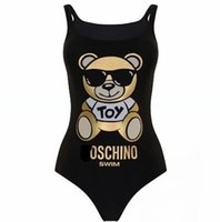 5f32bfb8a08 MOSC Small Bear Designer fashion Swimwear Bikini For Women Letter Swimsuit  Bandage Bi quinis Sexy Bathing Suit 2019