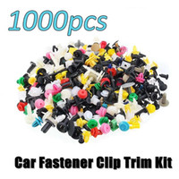 Wholesale car parts doors resale online - 500Pcs Universal Mixed Auto Fastener Car Bumper Clips Retainer Push Engine Cover Car Fastener Rivet Door Panel for Fender Liner