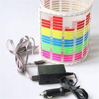 Wholesale equalizer rhythm resale online - Universal Fit Car Music Rhythm LED Flash Light Sound Activated Equalizer Flash Auto Sticker Lamp Rear Window Decoration Decals