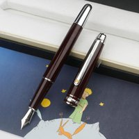 Wholesale engraved writing pens for sale - Group buy Promotion Petit Prince Rollerball Ballpoint Fountain Pen Luxury Stationery Wine Red Silver Clip Engrave with MB Serial Number