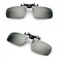 Wholesale clip night vision goggle resale online - 100pcs Glasses Clip High Quality Flip Up UV400 Clip On Sunglasses Clip on Flip up Sports Driving Night Vision Lens Sun Glasses Good Quality