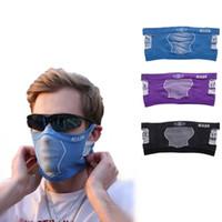 черная фиолетовая маска оптовых-Открытый Велоспорт Волшебная Маска Ветровка Многофункциональный Держать Теплый Шарф Мужчины И Женщины Фиолетовый Синий Черный Розовый Ошейник Моды 11ybD1