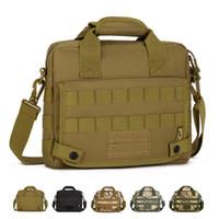 sacos do mensageiro do exército para homens venda por atacado-Homens Camo Tático Saco Do Mensageiro Para Ipad4 / 10 Polegada Tablet Laptop Bag Ao Ar Livre À Prova D 'Água Do Exército Tático Ombro Pasta K309