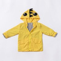 Wholesale dinosaur kids jacket resale online - Kids Designer Brand Windbreaker Children Jacket Boy Dinosaur Windbreaker Long Sleeve Zipper Shirt Inner Stripe Solid Color