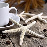 hochzeitsdekoration seestern großhandel-Hot 30 Stück 10-12 cm Weiß Natürliche Finger Starfish Craft Dekoration Natürliche Sea Star DIY Strand Cottage Hochzeit Decor Dropshipping