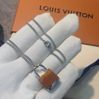 tiger anhänger großhandel-LOCKIT Anhänger, Weißgold, Chalcedon und Diamanten Tigerauge Stein Vorhängeschloss Charme vereist Ketten Halskette Schmuck Designer Halskette
